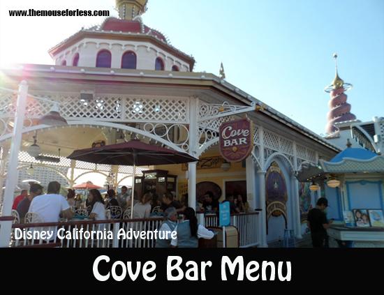 Cove Bar Menu