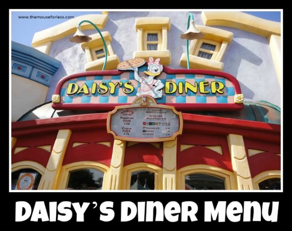 Daisys Diner Menu