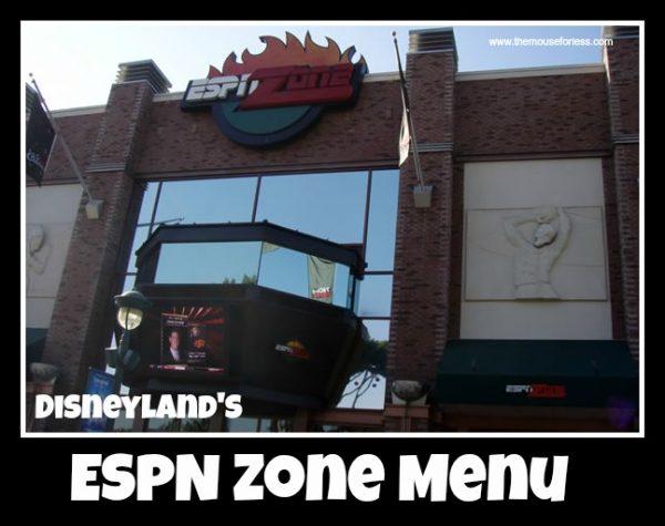 ESPN Zone Menu