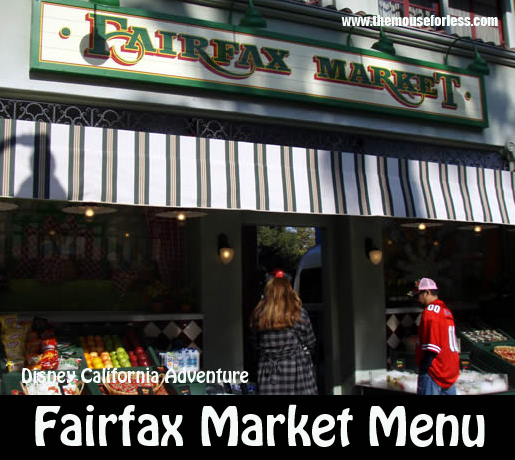 Fairfax Market Menu