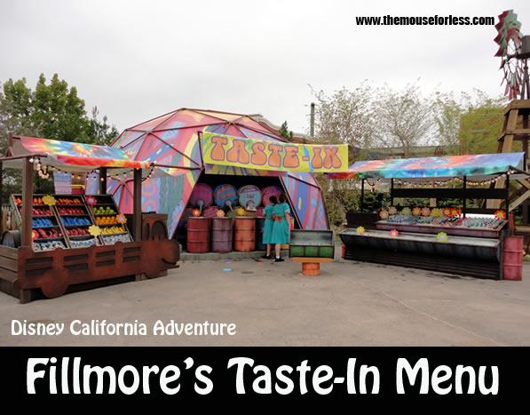 Fillmore's Taste-In Menu