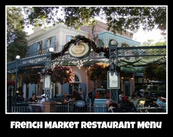 French market menu