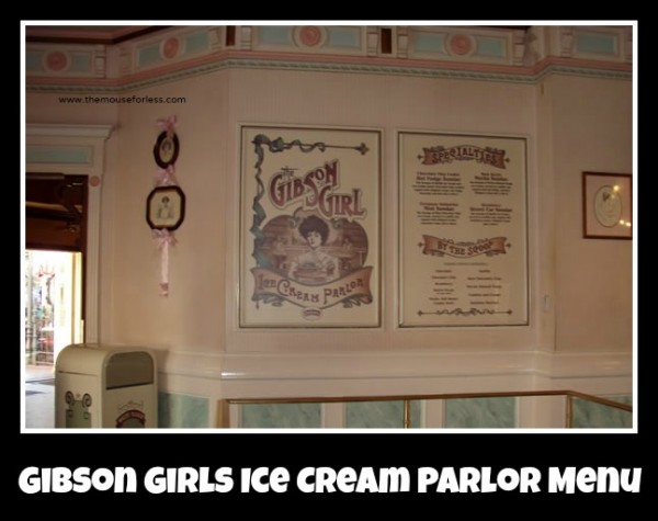 Gibson Girl Menu