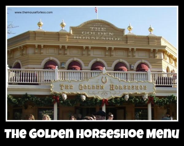 The Golden Horseshoe menu