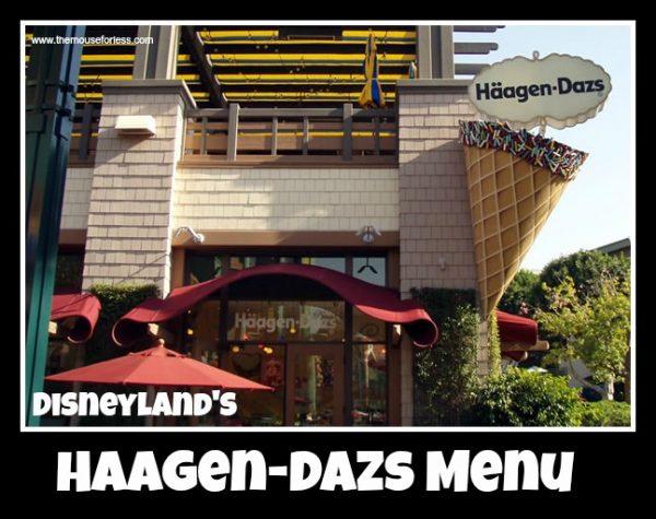 Haagen-Dazs Menu