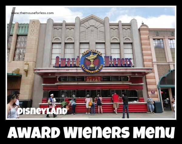Award Wieners Menu