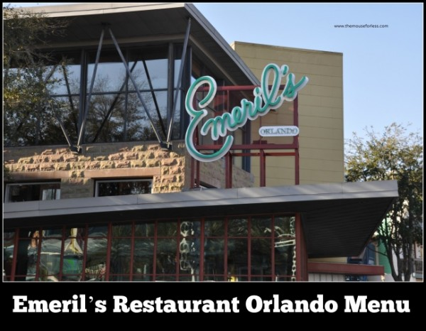 Emeril's Restaurant Orlando Menu