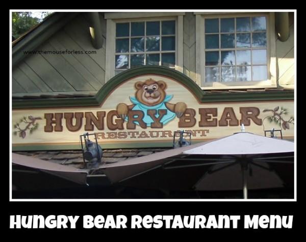 Hungry Bear Menu