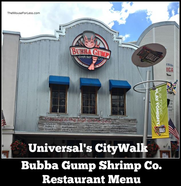 Bubba Gump Shrimp Co. Menu