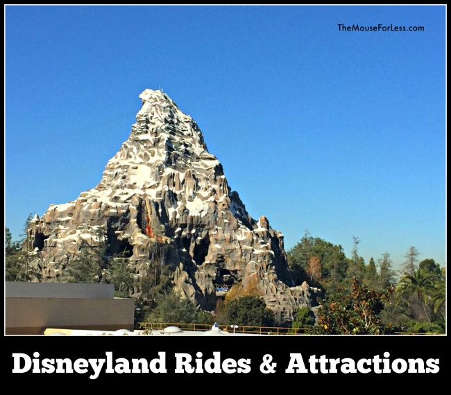 Disneyland Rides and Attractions