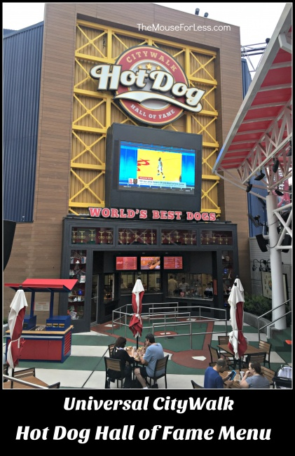 Hot Dog Hall Of Fame Menu Citywalk At Universal Orlando