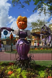 the magic kingdom park will be decked out for halloween beginning late augustearly september with decorations on main street usa and in liberty square
