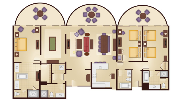 Disney 39 s animal kingdom villas guide walt disney world for Animal kingdom 2 bedroom villa floor plan