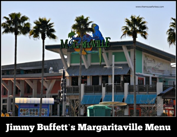 Jimmy Buffett's Margaritaville Menu