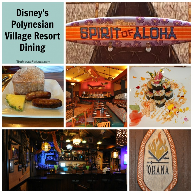 Disney's Polynesian Village Resort Dining