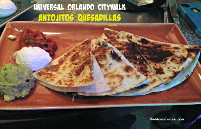 antojitos Menu Quesadillas