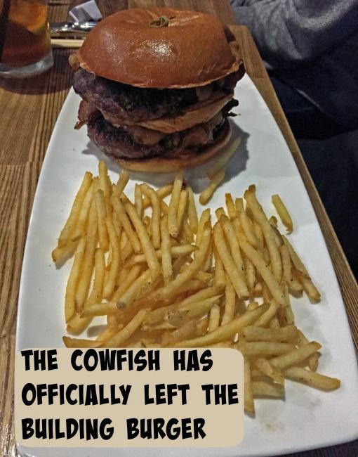 The Cowfish Menu cowfish burger