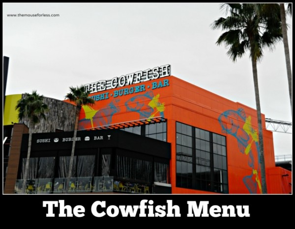 The Cowfish Menu