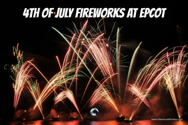 4th of july fireworks at Epcot