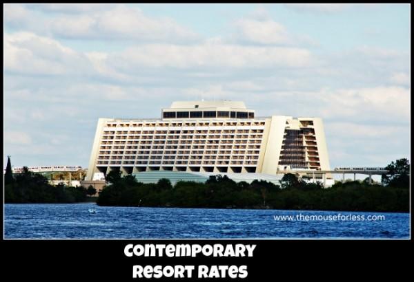 Contemporary Resort Rates