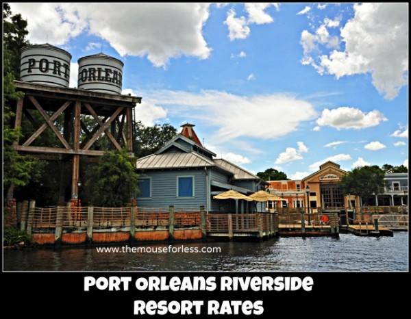 Port Orleans Riverside Resort Rates