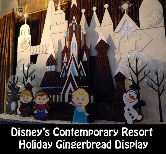 Disney Contemporary Resort Holiday Gingerbread Display