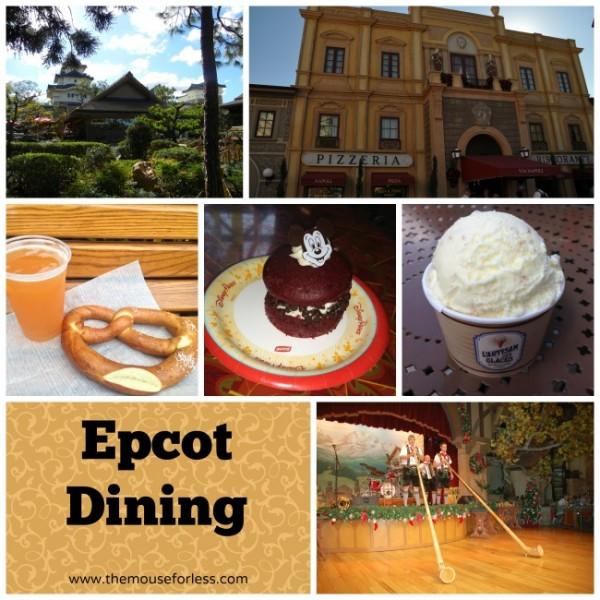 Epcot Theme Park Dining menus