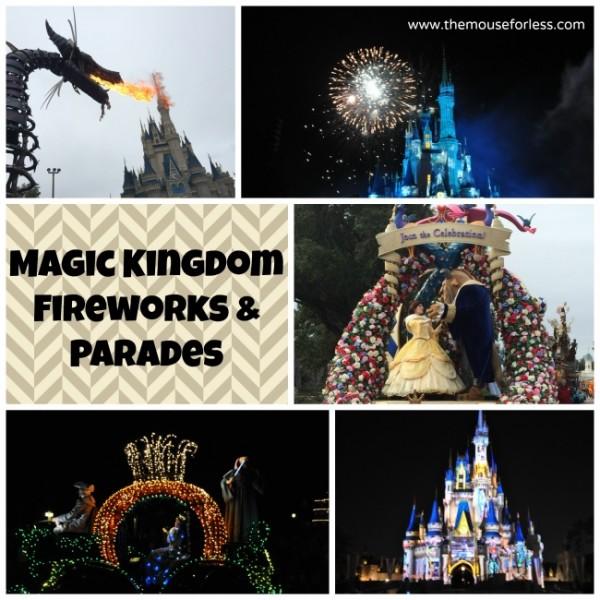 Disney Magic Kingdom Fireworks and Parades