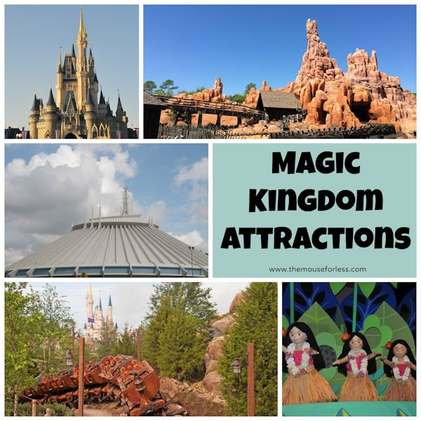 Disney's Magic Kingdom Rides and Attractions #WDW #MagicKingdom