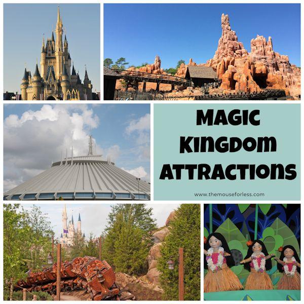 Disney's Magic Kingdom Rides and Attractions #WDW #MagicKingdom