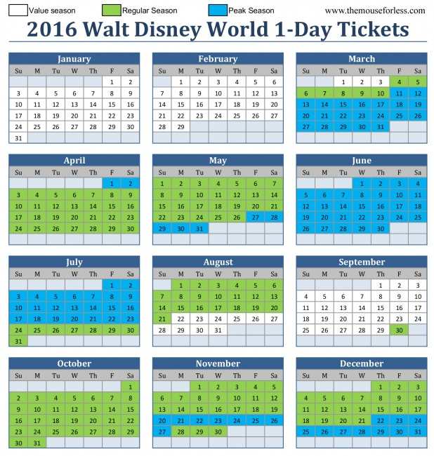 Disney seasonal pass blockout dates 2015