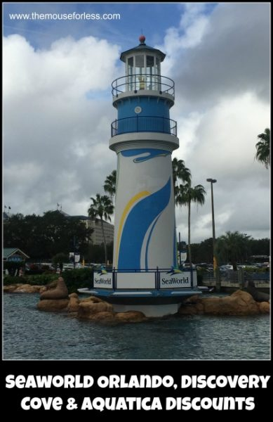 Seaworld Orlando, Discovery Cove, and Aquatica Discounts
