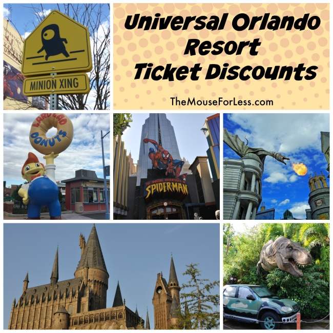 Universal Orlando® Resort Limited Time Promo: Buy 2-Days, Get 2-Days Free! Universal Orlando Resort is made up of three theme parks and offers the choice of a Base Ticket and money-saving Park-to-Park Ticket.. Universal Studios® - You'll enter The Wizarding World of Harry Potter™-Diagon Alley™, encounter mischievous Minions, and take on the new ride Fast & Furious-Supercharged™.
