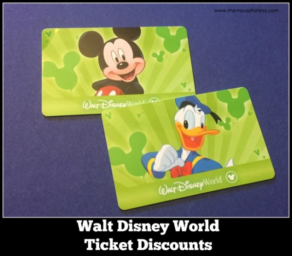 Walt Disney World ticket discounts