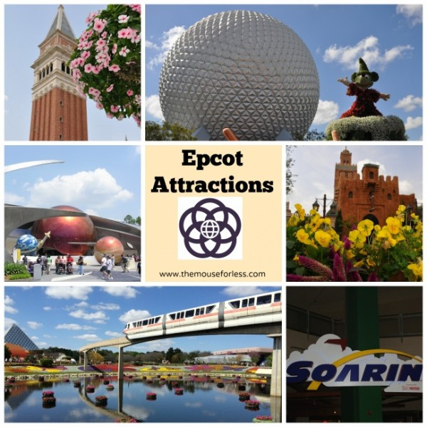 Disney Epcot Theme Park Attractions