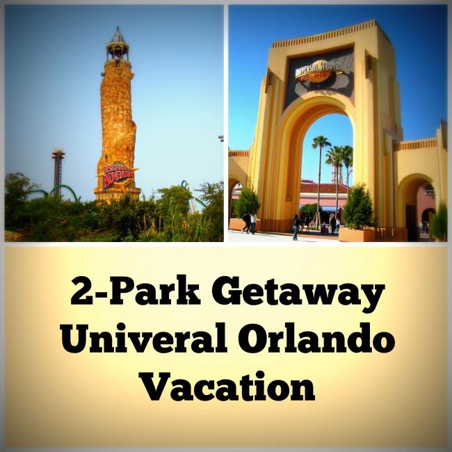 2 park getaway Universal Orlando Vacation
