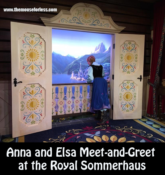 Anna and Elsa Meet-and-Greet at the Royal Sommerhaus