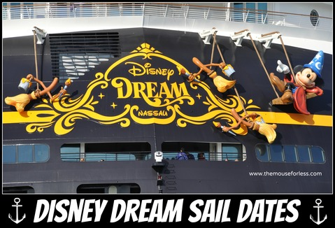 DCL Dream Sail Dates | Disney Cruise Line Itineraries