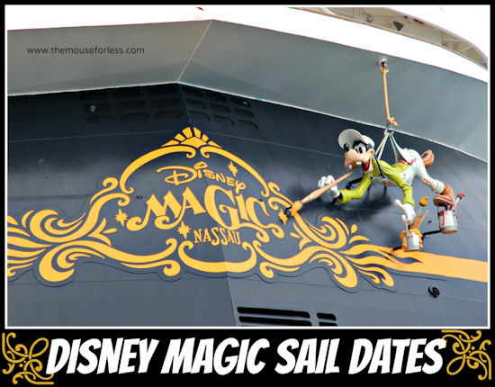 DCL Magic Sail Dates | Disney Cruise Line Itineraries