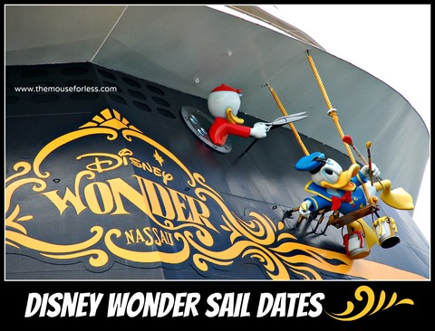 Disney Cruise Line Wonder Sail dates | Disney Cruise Line Itineraries