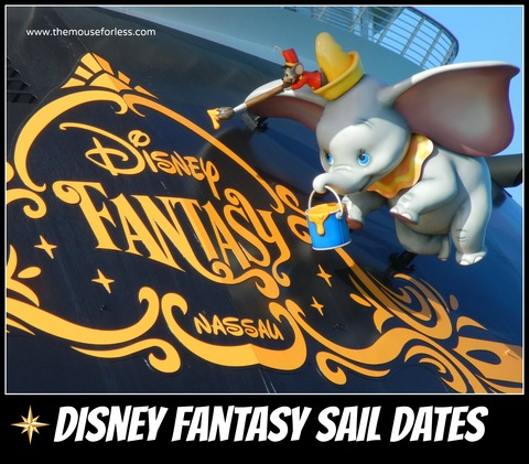 DCL fantasy sailing dates | Disney Cruise Line Itineraries
