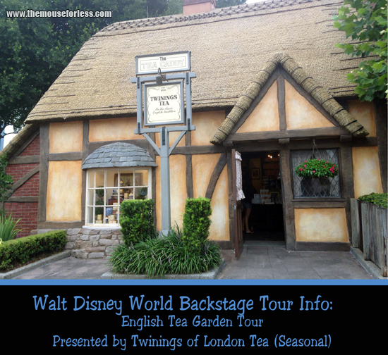 Disney's English Tea Garden Tour