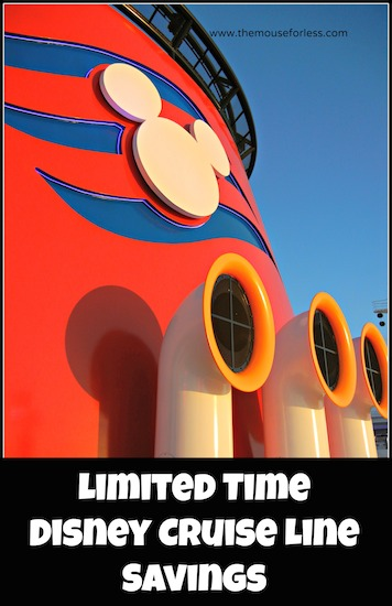 Disney Cruise Line Limited Time Offers #DisneyCruise #SaveMoney #Travel