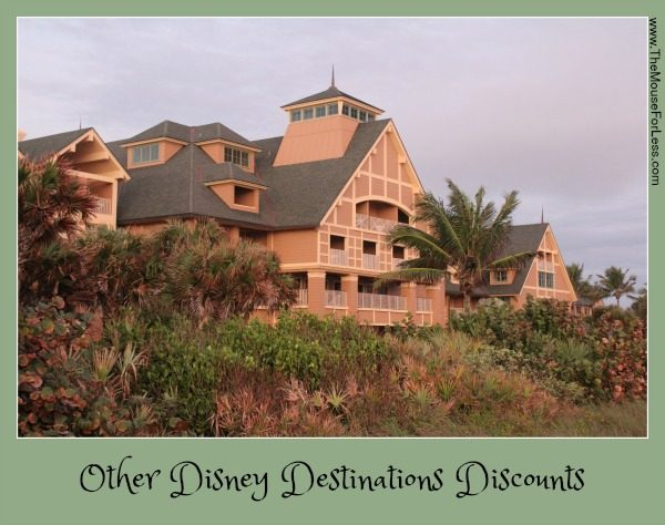 Other Disney Destinations Discounts