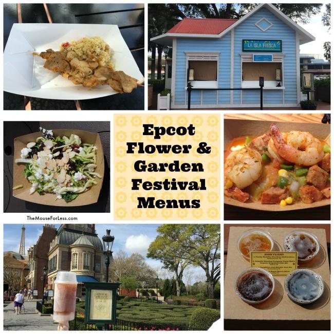 Epcot Flower & Garden Festival Menus