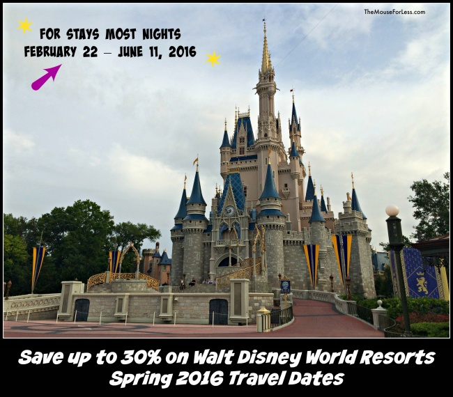Spring 2016 Walt Disney World Discounts