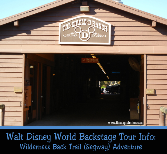 Wilderness Back Trail Segway Adventure at Walt Disney World