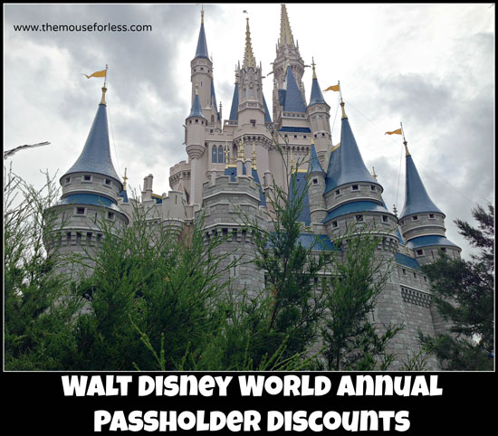 Walt Disney World Discounts for Annual Passholders