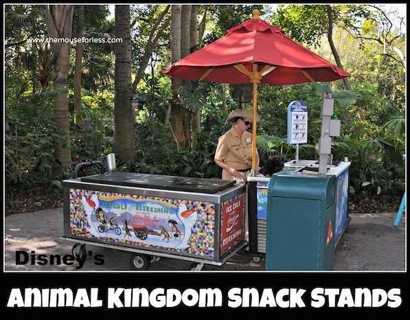 Snack Cart Menus at Animal Kingdom #DisneyDining #AnimalKingdom