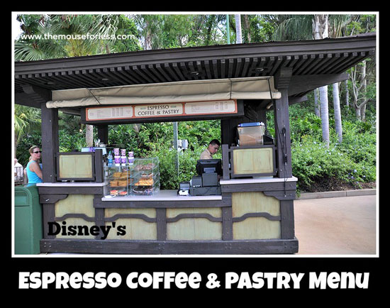 Espresso Coffee and Pastry Menu at Disney's Animal Kingdom #DisneyDining #AnimalKingdom